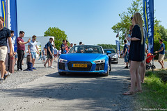 R8 V10 Spyder (Alessandro_059) Tags: audi r8 v10 spyder blue cars coffee belgium