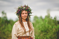 zane (jancuksz) Tags: nikon sigma 85 85mm d610 fx ff portrait girl woman beautiful latvia tradition solstice countryside nature summer national costume crochet