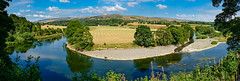Ruskin's View (Mister Oy) Tags: ruskinsview ruskin kirkbylonsdale cumbria riverlune fujix100f panorama bend framed scenery landscape cows