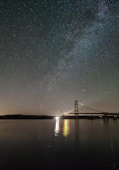 Milky Way Over Deer Isle Bridge (davidmurr) Tags: maine downeastmaine littledeerisle deerisle milkyway summermilkyway deerislebridge sedgwick eggemogginreach bridge suspensionbridge rt15