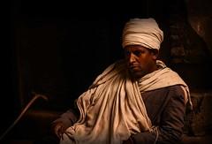 Orthodox Priest (Rod Waddington) Tags: africa african afrika afrique ethiopia ethiopian etiopia orthodox priest coptic man church cave libros portrait indoor culture tigray lalibela