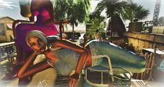 Making Friends @ Voodoo (Chioma Namiboo Jinn) Tags: voodooinmyblood secondlife sl wl windlights giantess giant explore exploring secondlifeexploration fun beach beautiful beauty best megan prumier vivresavie sofie janic windlight sun sunglasses summer