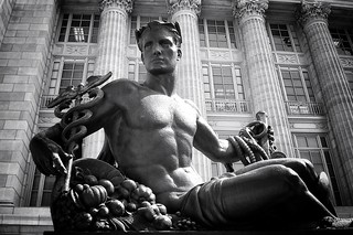 Jefferson City Missouri - Missouri State Capitol Grounds Statehood Statue - Monochrome