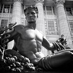Jefferson City Missouri - Missouri State Capitol Grounds Statehood Statue - Monochrome thumbnail