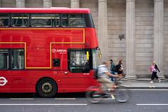 Arriva London HV231 (cybertect) Tags: 242 arriva arrivalondon bankofengland borisbike carlzeissdistagont35mmf28mm hv231 lk66gbf london londonbus sonya7ii threadneedlestreet wrighteclipsegemini3 bicycle bus cyclist doubledecker route242