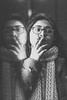 Reflection (LucyandtheWolves) Tags: portrait portraits london matte soft refelction smoking winter crushed blacks mirror mirrored