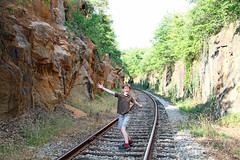 onthetracks (FAIRFIELDFAMILY) Tags: winnsboro train depot station granite blue fairfield county sc south carolina sunflower field jason taylor grant yellow pretty outside farm farming nature young old architecture stone brick building store town southern living garden gun fun flower flowers summer life boy warehouse tracks rail railroad walking exploring explore greenbrier cut pass rural