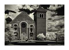 Church With Storms Moving In (IR) (sorrellbruce) Tags: summer storms clouds church infrared ir