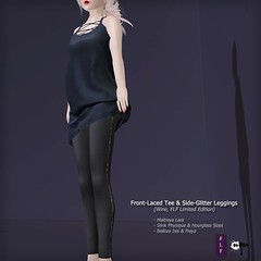 Front-Lace Tee & Side-Glitter Leggings (FLF Special) (NyuNyu Kimono, NYU!) Tags: nyu secondlife second life fifty linden friday flf front lace tee side glitter leggings