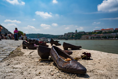 Shoes on the Danube River (nan palmero) Tags: budapest hungary hu sonya7riii sony sonyalpha danube river shoes iron cantogay arrowcrossterror wwii worldwarii