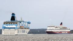 Galaxy och Gabriella (zTomten) Tags: tallink silja galaxy viking line gabriella boat ship passenger roro passagerarfartyg
