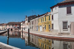 Comacchio (_Giò_) Tags: water homes comacchio emiliaromagna reflections colors summer