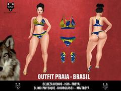 Alcateia - Outfit Praia - Brasil ( Biquini + Chinelo) (Alcateia Store) Tags: secondlife brasil praia alcateia store biquini chinelo roupa outfit