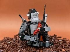 Evolution (vincentkiew) Tags: vq bricksartbyvq vincentkiew lego humanity ape antiviolence antiwar antigun peace evolution