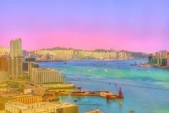 Hong Kong harbor (Paterson Galupe) Tags: hongkong hong kong harbor blue hour hdr city seaview cityscape afternoon