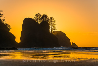 Sunset at Point of Arches in Olympic National Park