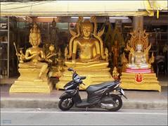 Bangkok Bamrung Muang Statues 20180208_122924 DSCN2948 (CanadaGood) Tags: asia seasia asean thailand thai ราชอาณาจักรไทย bangkok krungthep shopping statue metal motorcycle hindu buddhist buddha canadagood 2018 thisdecade color colour