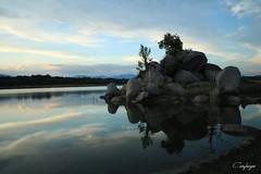 Espejo de agua... (cienfuegos84) Tags: embalse valmayor agua nature naturaleza water espejo nubes nube cloud clouds madrid piedras stones