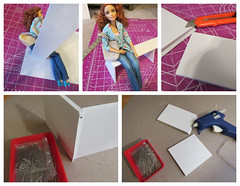 1 of 5 Making airport seating (Foxy Belle) Tags: doll barbie diorama tutorial how make seating airport waiting room froggy stuff 16 scale playscale blythe