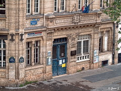 ... (Jean S..) Tags: school building old ancient windows doors stone blue