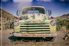 Glory Days (Jim Nix / Nomadic Pursuits) Tags: americana arizona chevrolet coolspringsstation jimnix luminar macphun nomadicpursuits route66 sony sonya7ii antique rust rusted travel truck vintage