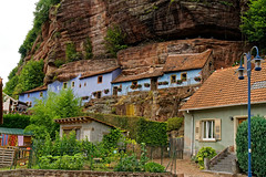 Houses in the rocks
