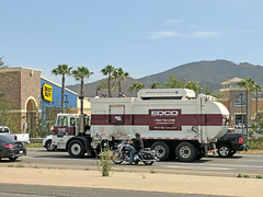 Edco Truck 7-6-18 (1) (Photo Nut 2011) Tags: california garbagetruck trashtruck sanitation wastedisposal waste truck garbage junk trash refuse sandiego edco motorcycle sanmarcos bestbuy
