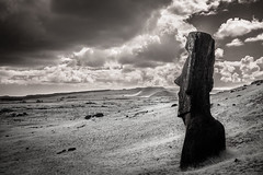 Piro Piro (Rodney Harvey) Tags: easter island moai piro infrared remote isolation mysterious pacific ocean ancient carving sculpture gaze timeless