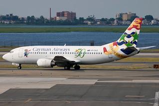 VP-CKZ   Boeing 737-36E   Cayman Airways (w/50 year anniversary logo)
