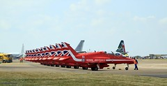 Red Arrows_MG_0317 (M0JRA) Tags: aircraft planes flying light clouds sky fields grass runways airports jets airshows riat props displays airforce
