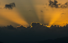 Golden Morning (tquist24) Tags: drakesseat nikon nikond5300 outdoor stthomas usvirginislands virginislands clouds geotagged gold golden island light morning sky sunrays sunrise tropical crepuscularrays