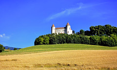 Château de Champvent (Diegojack) Tags: champvent d7200 vaud suisse nikon nikonpassion campagne nordvaudois monumentz chateau colline blés groupenuagesetciel