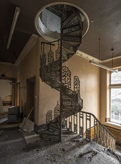Spiral (Camera_Shy.) Tags: old building spiral staircase tresspassing disused urban exploring abandoned industry uk nikon d810