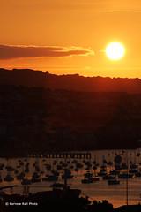 Falmouth Sunset (Kernow Rail Phots) Tags: golden sunset kernow cornwall falmouth pier river harbour water boats town urban sky cloud sun thursday 18th july 2018 1872018