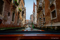 View from a water taxi (Magda Banach) Tags: canal canon canoneos5dmarkiv italy tamronsp2470mmf28divcusdg2 wenecja włochy bridge buildings venice view venezia veneto it