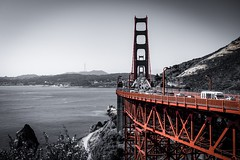 GoldenGateBridge in San Francisco.  What an nice place to be... (wianphoto) Tags: summer california goldengatebridge perfectday olympusomdem5ii usa greatplace wianphoto sf red vacation color sky sea bridge sanfrancisco usa2018