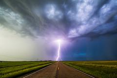 In the Middle (Mike Olbinski Photography) Tags: 20180614 canon1124mmf4 canon5dsr farms fields hail lightning northdakota pickcity rain roads stormchasing storms