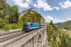 1216 250 CD railjet.  Krausel-Klause-Viaduct Semmeringbahn (Hans Wiskerke) Tags: breitenstein niederösterreich oostenrijk at