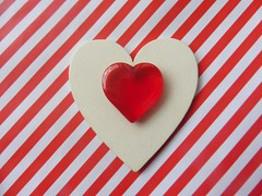 Red and White (Hannelore_B) Tags: macro herz heart rot red weis white heartshape macromademoiselle