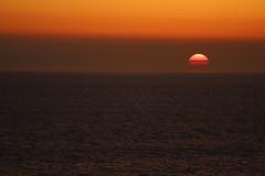 Sun cut into halves (Sven Bonorden) Tags: sonnenuntergang sunset sun sonne water wasser nordsee northsea norwegen norway norge ozean ocean meer sea sky himmel abend evening