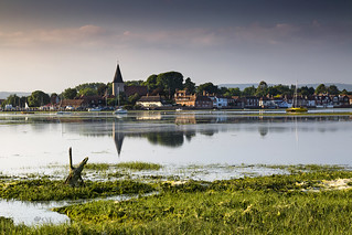 High tide harbour