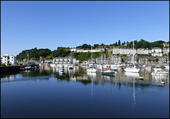 Porthmadog harbour. (Country Girl 76) Tags: portmadog north wales harbour boats yachts sea buildings scenic trees reflections