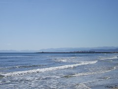 Cullera (Valencia) (MarisaTárraga) Tags: españa spain valencia cullera playa beach agua water verano summer cielo heaven fujifilmsl300 naturaleza nature