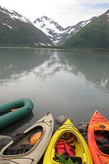 Unloading Point at Portage Lake (DuckShepherd) Tags: kayak kayaking alaska summer 4thofjuly independenceday boat boating river water float