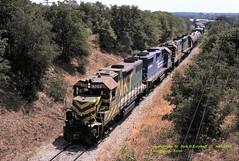 MKT 320, CR 8263, MKT 303-171, Bridgeport, TX 9-07-1980 (jackdk) Tags: train railroad railway locomotive emd emdlocomotive gp38 gp382 gp39 gp392 mkt missourikansasandtexas cr conrail texas standardcab