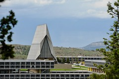 Air Force Academy in Colorado Springs, CO (hannu & hannele) Tags: air force academy campus colorado springs cadet chapel building architecture sky nikon d700