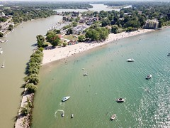 Lakeside Park from the air 1 (J-a-x) Tags: stcatharines ontario canada lakeontario portdalhousie greatlakes beach lakesidepark