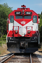 WAMX 3947 In Your Face (AndyWS formerly_WisconsinSkies) Tags: train railroad railway railfan wisconsinandsouthern wsor watco wamx emd gp392 locomotive