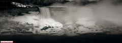 Niagara Falls, USA side (DelioTO) Tags: 6x17 120 blackwhite canada city curved d23 f317 lake landscape natparks usapanoramic pinhole rain rpx100 winter