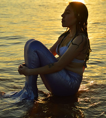 Mermaid dreams (radargeek) Tags: risa mermaid photoshoot lakearcadia oklahoma sunset silhouette greenhair